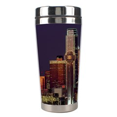 Dallas Texas Skyline Dusk Usa Stainless Steel Travel Tumblers by Simbadda