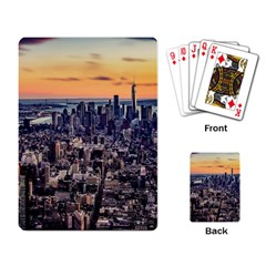New York Skyline Architecture Nyc Playing Card by Simbadda