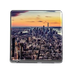 New York Skyline Architecture Nyc Memory Card Reader (square)