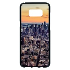 New York Skyline Architecture Nyc Samsung Galaxy S8 Plus Black Seamless Case