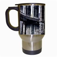 City Skyline Skyline City Cityscape Travel Mugs (white) by Simbadda