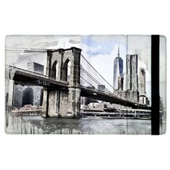 City Skyline Skyline City Cityscape Apple Ipad 2 Flip Case by Simbadda
