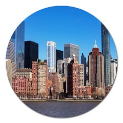 Skyscraper Architecture City Magnet 5  (round) by Simbadda