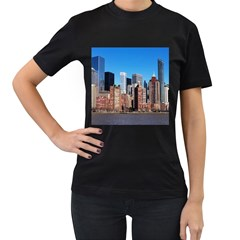 Skyscraper Architecture City Women s T Shirt (black) (two Sided)