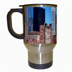 Skyscraper Architecture City Travel Mugs (white) by Simbadda