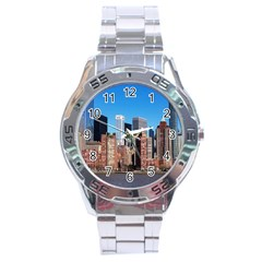 Skyscraper Architecture City Stainless Steel Analogue Watch by Simbadda