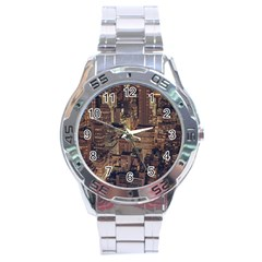 New York City Skyline Nyc Stainless Steel Analogue Watch by Simbadda