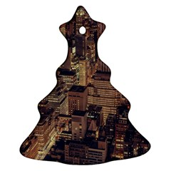 New York City Skyline Nyc Christmas Tree Ornament (two Sides) by Simbadda