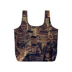 New York City Skyline Nyc Full Print Recycle Bags (s)  by Simbadda