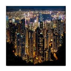 Panorama Urban Landscape Town Center Tile Coasters
