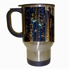 Panorama Urban Landscape Town Center Travel Mugs (white) by Simbadda