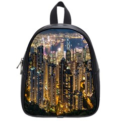 Panorama Urban Landscape Town Center School Bag (small) by Simbadda