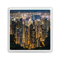 Panorama Urban Landscape Town Center Memory Card Reader (square)