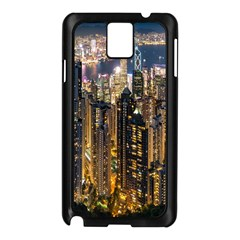 Panorama Urban Landscape Town Center Samsung Galaxy Note 3 N9005 Case (black) by Simbadda