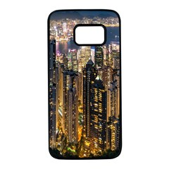 Panorama Urban Landscape Town Center Samsung Galaxy S7 Black Seamless Case