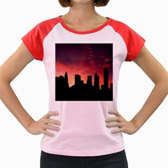 Skyline Panoramic City Architecture Women s Cap Sleeve T Shirt