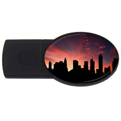 Skyline Panoramic City Architecture Usb Flash Drive Oval (4 Gb)