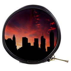 Skyline Panoramic City Architecture Mini Makeup Bags