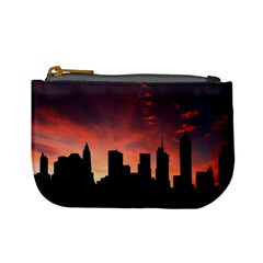 Skyline Panoramic City Architecture Mini Coin Purses