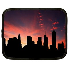 Skyline Panoramic City Architecture Netbook Case (xxl)  by Simbadda