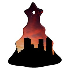Skyline Panoramic City Architecture Ornament (christmas Tree)  by Simbadda