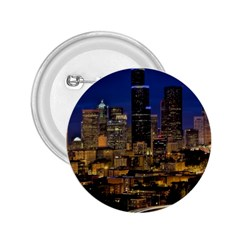 Skyline Downtown Seattle Cityscape 2 25  Buttons by Simbadda