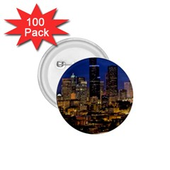 Skyline Downtown Seattle Cityscape 1 75  Buttons (100 Pack)  by Simbadda