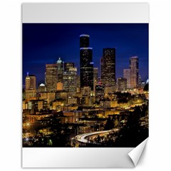 Skyline Downtown Seattle Cityscape Canvas 12  X 16