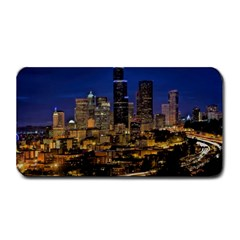 Skyline Downtown Seattle Cityscape Medium Bar Mats by Simbadda