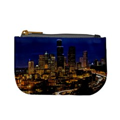 Skyline Downtown Seattle Cityscape Mini Coin Purses