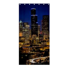 Skyline Downtown Seattle Cityscape Shower Curtain 36  X 72  (stall)  by Simbadda