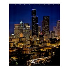 Skyline Downtown Seattle Cityscape Shower Curtain 60  X 72  (medium)  by Simbadda