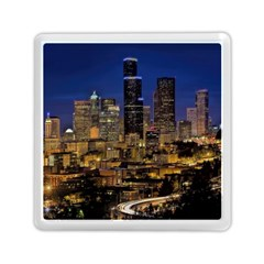 Skyline Downtown Seattle Cityscape Memory Card Reader (square)