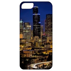 Skyline Downtown Seattle Cityscape Apple Iphone 5 Classic Hardshell Case by Simbadda