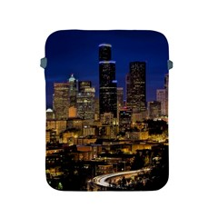 Skyline Downtown Seattle Cityscape Apple Ipad 2/3/4 Protective Soft Cases by Simbadda