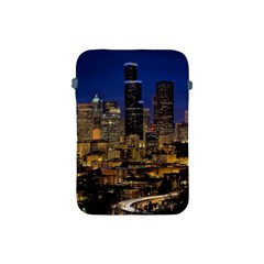 Skyline Downtown Seattle Cityscape Apple Ipad Mini Protective Soft Cases by Simbadda