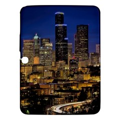 Skyline Downtown Seattle Cityscape Samsung Galaxy Tab 3 (10 1 ) P5200 Hardshell Case  by Simbadda