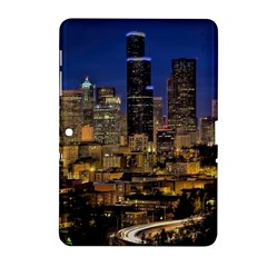 Skyline Downtown Seattle Cityscape Samsung Galaxy Tab 2 (10 1 ) P5100 Hardshell Case  by Simbadda