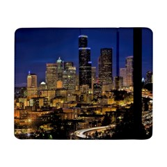 Skyline Downtown Seattle Cityscape Samsung Galaxy Tab Pro 8 4  Flip Case by Simbadda