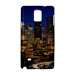 Skyline Downtown Seattle Cityscape Samsung Galaxy Note 4 Hardshell Case by Simbadda