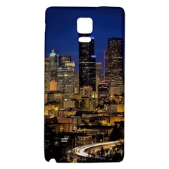Skyline Downtown Seattle Cityscape Galaxy Note 4 Back Case by Simbadda
