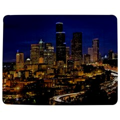 Skyline Downtown Seattle Cityscape Jigsaw Puzzle Photo Stand (rectangular) by Simbadda