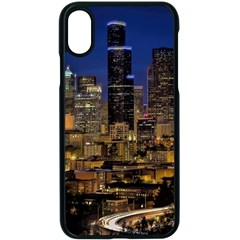 Skyline Downtown Seattle Cityscape Apple Iphone X Seamless Case (black) by Simbadda