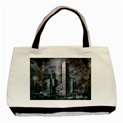 Digital Art City Cities Urban Basic Tote Bag (two Sides)