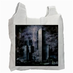 Digital Art City Cities Urban Recycle Bag (two Side)