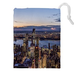 Panoramic City Water Travel Drawstring Pouches (xxl)