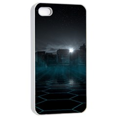 Skyline Night Star Sky Moon Sickle Apple Iphone 4/4s Seamless Case (white)