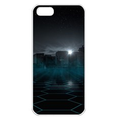 Skyline Night Star Sky Moon Sickle Apple Iphone 5 Seamless Case (white)