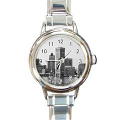 Architecture City Skyscraper Round Italian Charm Watch by Simbadda