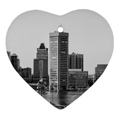 Architecture City Skyscraper Ornament (heart) by Simbadda
